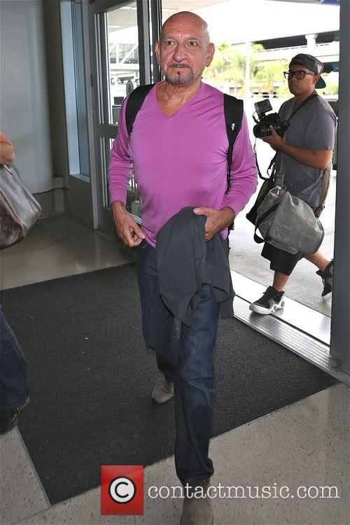 Sir Ben Kingsley at Los Angeles International Airport...