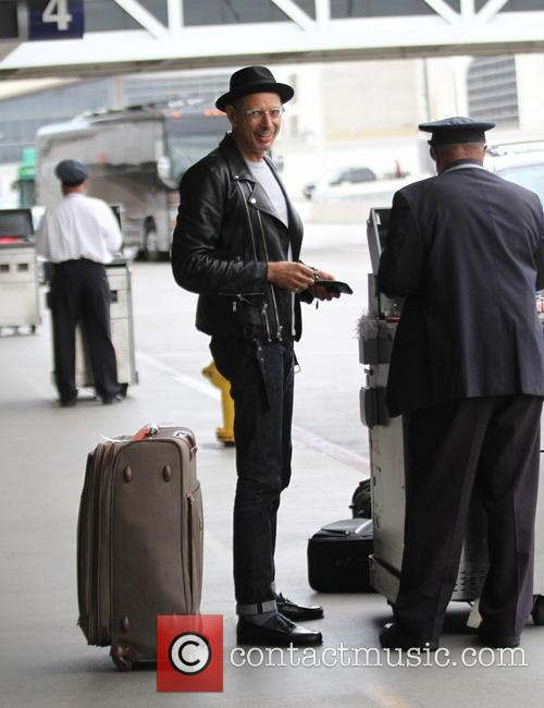 Jeff Goldblum at Los Angeles International Airport