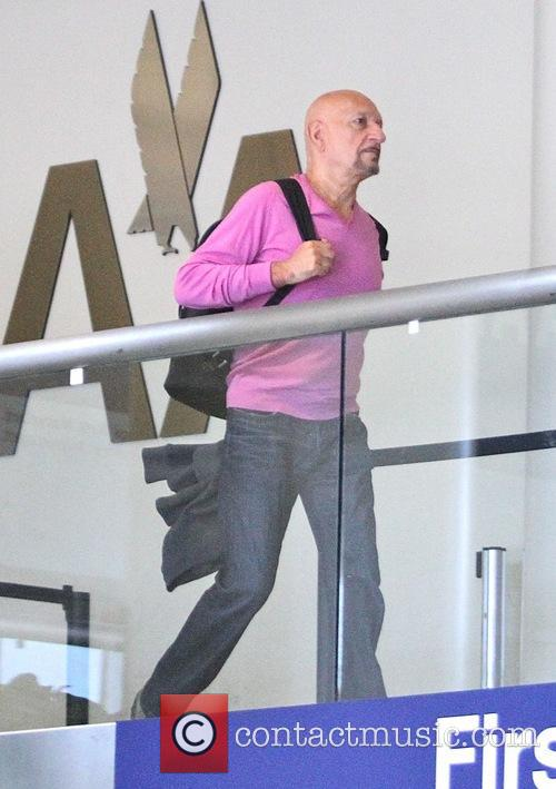 Sir Ben Kingsley leaving Los Angeles International Airport