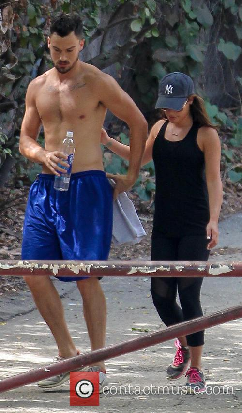 Lea Michele and Matthew Paetz go hiking in...