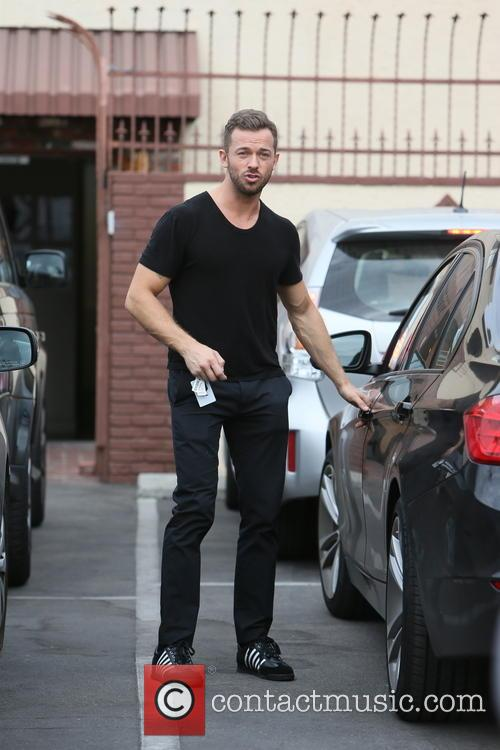 Celebrities leaving a dance studio after DWTS rehearsals