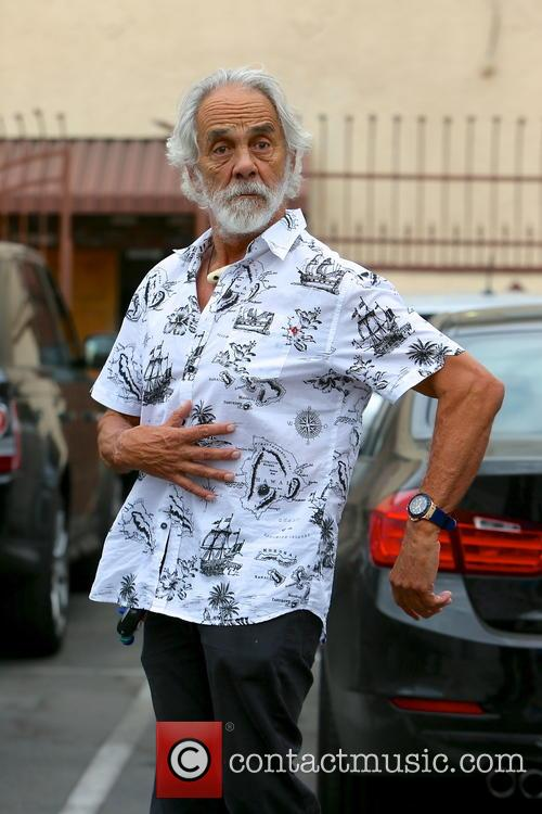 Tommy Chong leaving a dance studio after DWTS...
