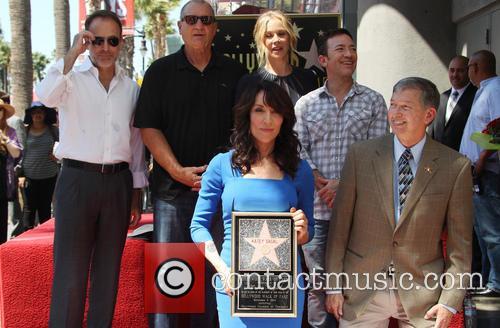 Katey Sagal at her Hollywood Walk of Fame...