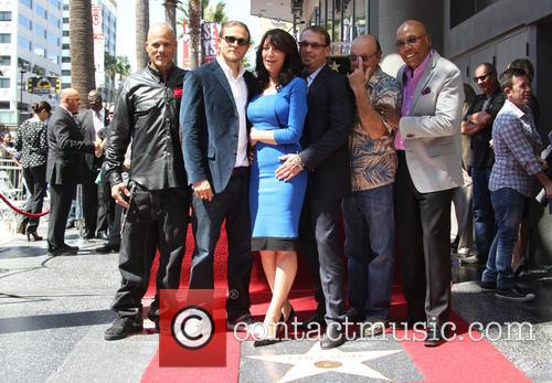 Katey Sagal, Charlie Hunnam, Kurt Sutter, Dayton Callie and Paris Barclay