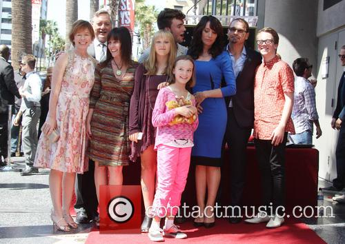 Katey Sagal, Kurt Sutter, Dayton Callie, Esme Louise Sutter, Jackson James White, Sarah Grace White and Ruby Jean White