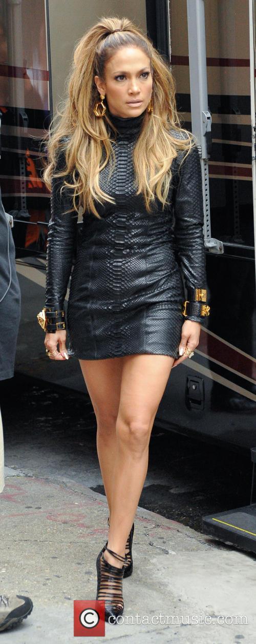 Jennifer Lopez and Fat Joe filming Jennifer Lopez's...