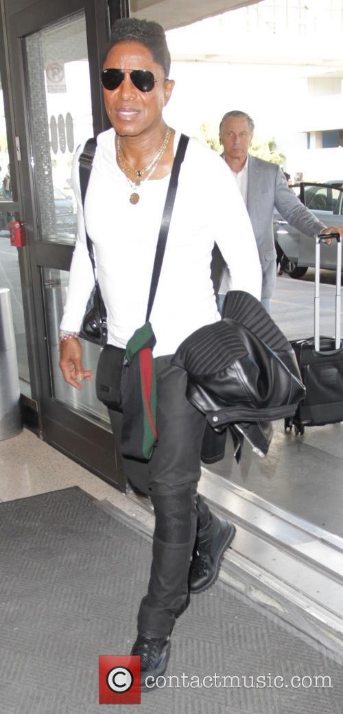 Jermaine Jackson at Los Angeles International Airport (LAX)