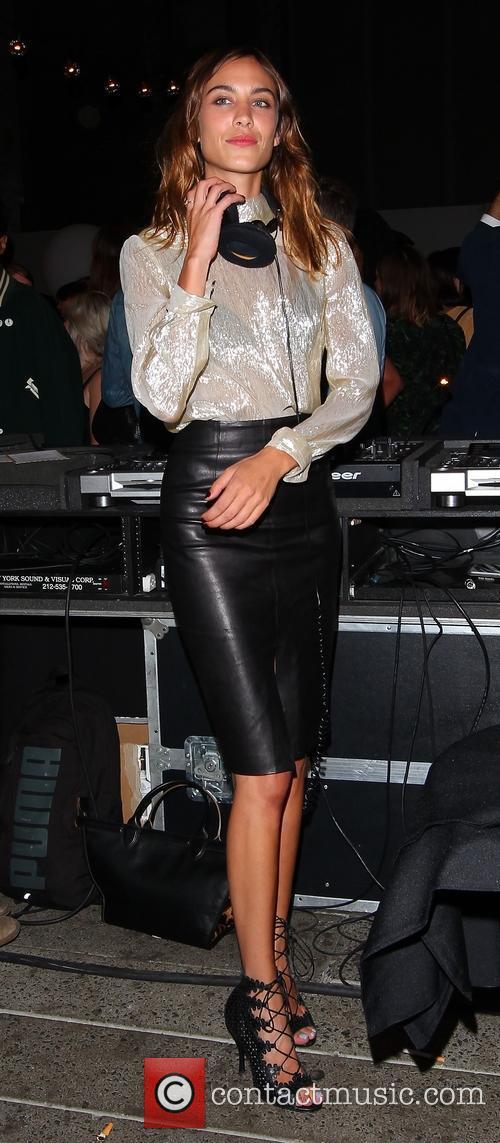 Alexa Chung at a New York Fashion Week...