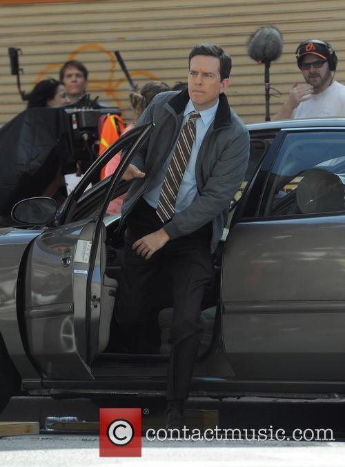 Andy Samberg filming 'Brooklyn Nine Nine'