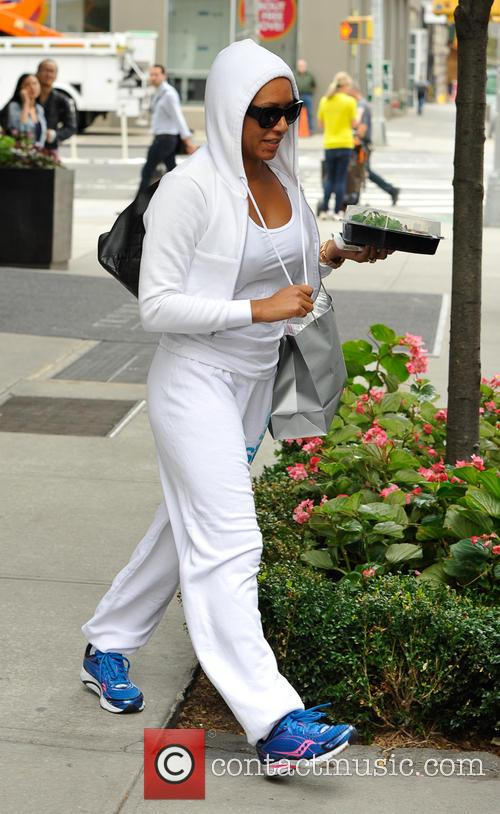 Mel B leaving her hotel for a workout