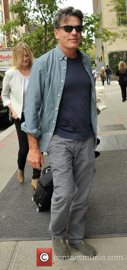 Peter Gallagher leaving a hotel in New York...