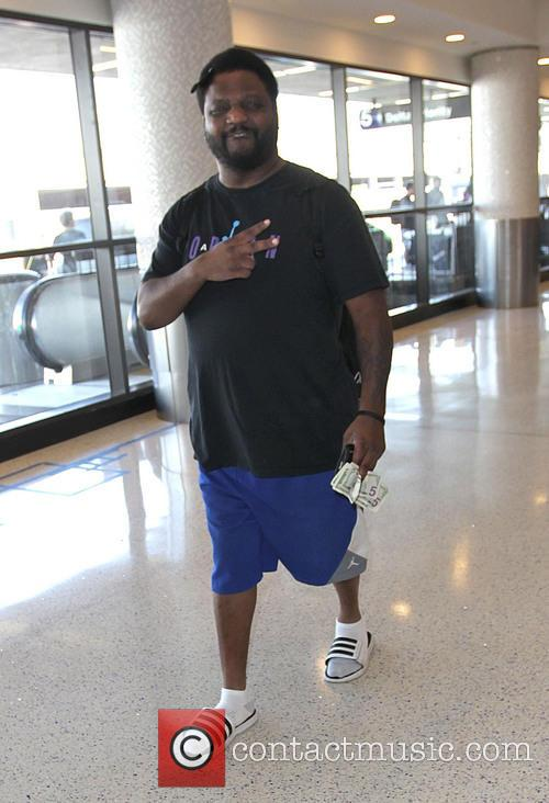 Aries Spears at Los Angeles International Airport