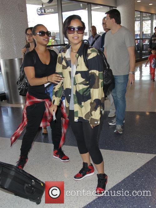 Lauren London at Los Angeles International Airport