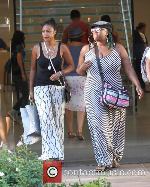 Tatyana Ali shopping with a friend at The...
