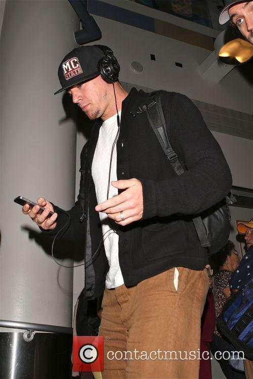 Channing Tatum arrives at Los Angeles International Airport