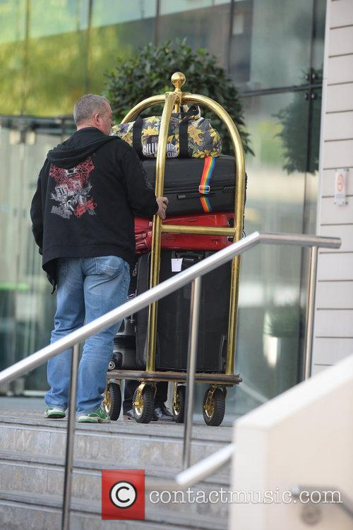Pharrell Williams leaves his hotel