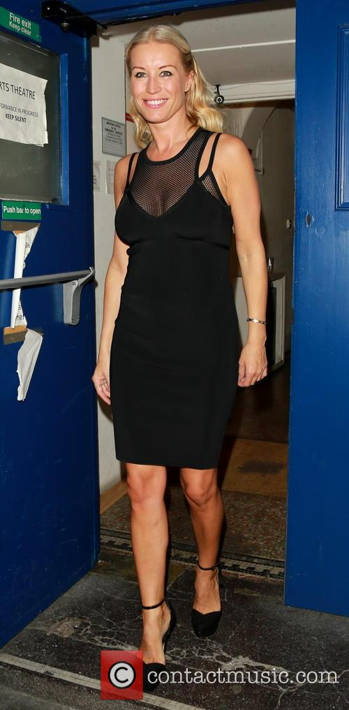 Denise van Outen after a performance of 'Some...