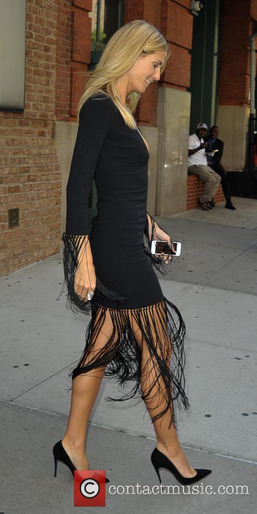 Heidi Klum leaving her hotel in Downtown New...