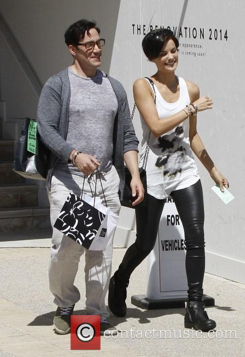 Jaimie Alexander goes shopping with a friend at...