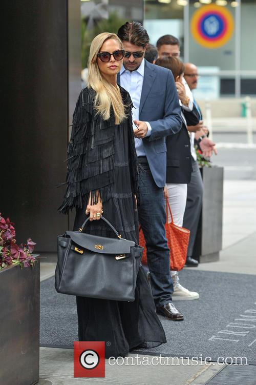 Rachel Zoe and Rodger Berman at their hotel...