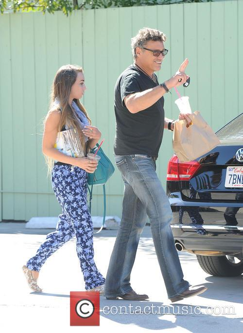 Steven Bauer and his 18 year old girlfriend,...