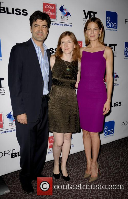 Ron Livingston, Claudia Myers and Michelle Monaghan 2