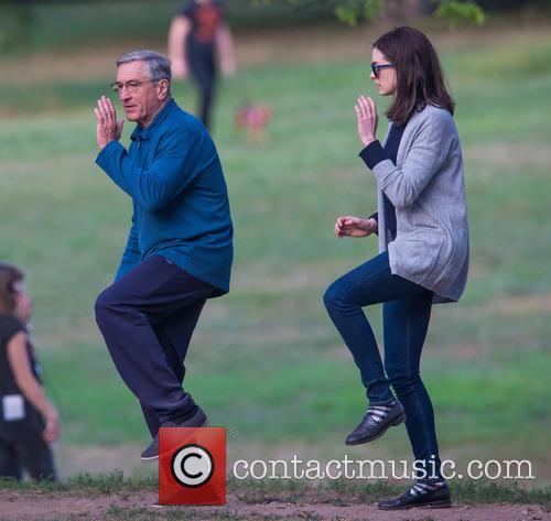 Robert De Niro and Anne Hathaway doing Tai...