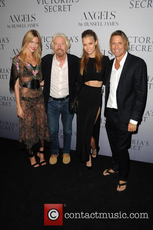 Martha Hunt, Richard Branson, Camille Rowe and Russell James 4