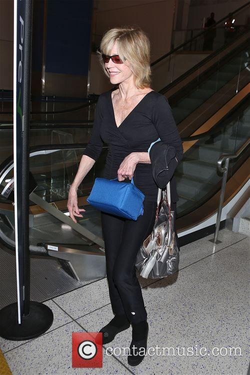 Jane Fonda arrives at Los Angeles International Airport...