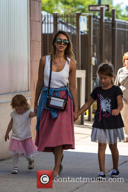 Jessica Alba was enjoys time with her kids...