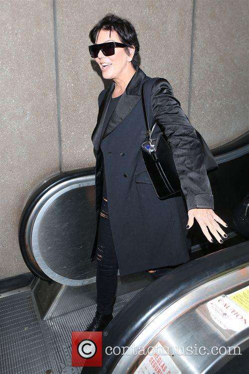 Kris Jenner and Kendal Jenner arrive at LAX
