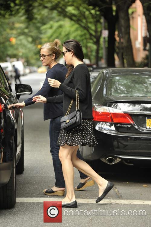 Liv Tyler leaving her apartment in New York