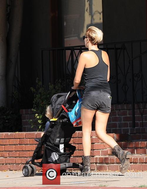 Malin Akerman spotted out with her son Sebastian...