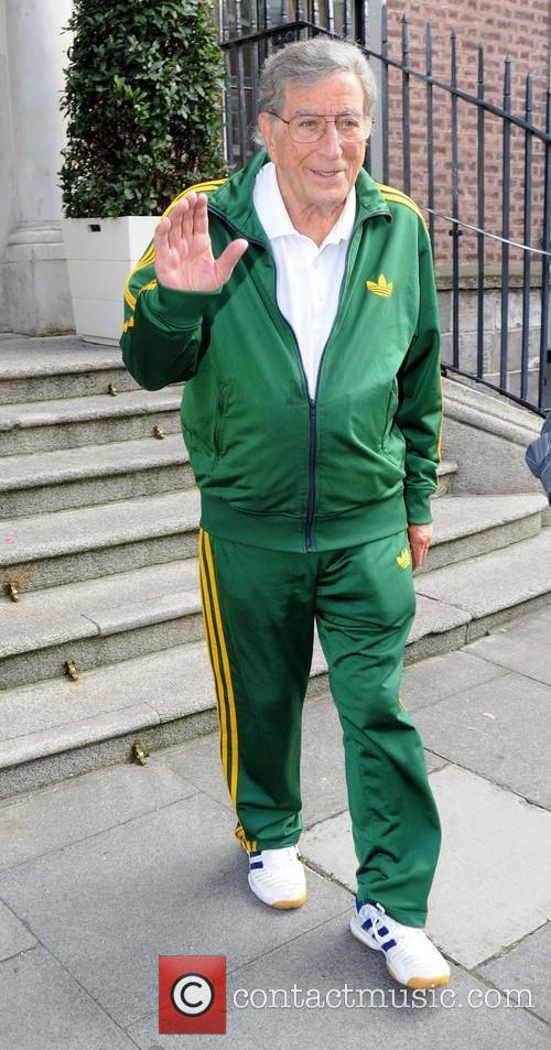 Tony Bennett seen leaving the Merrion Hotel