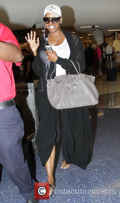 NeNe Leakes arrives at Los Angeles International (LAX)...