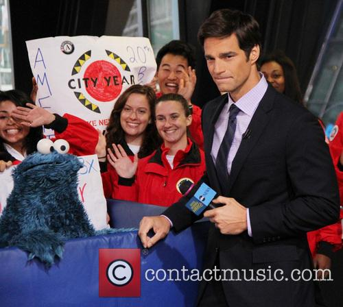 Cookie Monster and Rob Marciano  Weather Host 4