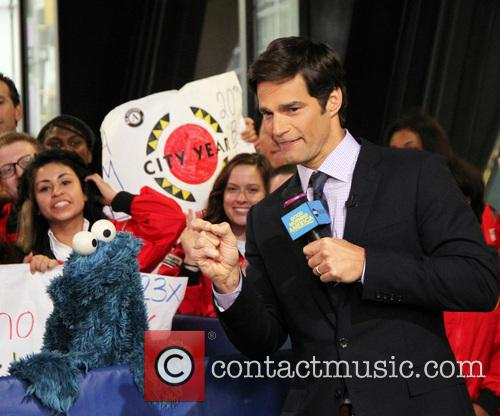 Cookie Monster and Rob Marciano  Weather Host 5