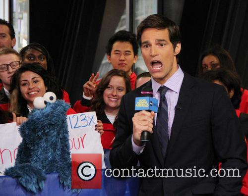 Cookie Monster and Rob Marciano  Weather Host 1