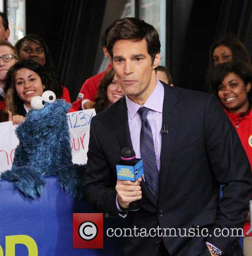 Cookie Monster and Rob Marciano  Weather Host 7