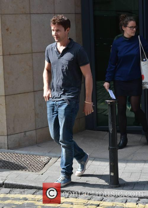 James Blunt seen leaving Today FM