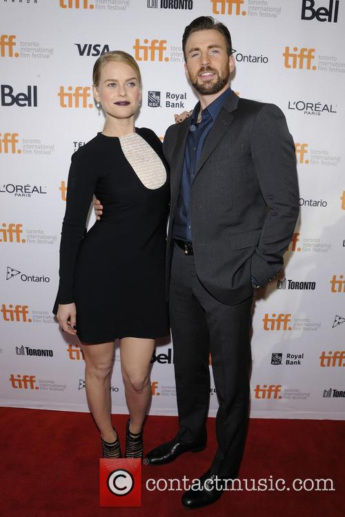 Alice Eve and Chris Evans 6