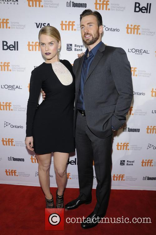 Alice Eve and Chris Evans 9
