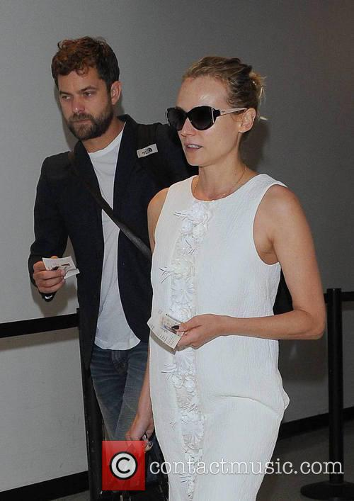 Diane Kruger and Joshua Jackson arrive at Los...