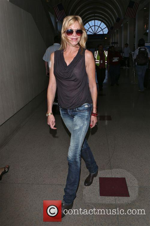 Melanie Griffith arrives at Los Angeles International Airport...