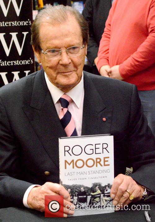 Sir Roger Moore book signing