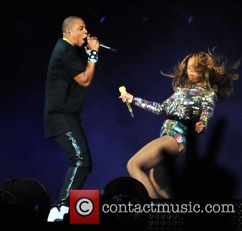 Beyonce and Jay-Z performing in Paris