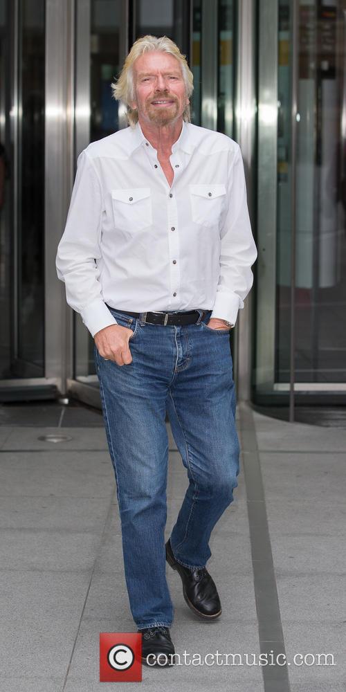 Sir Richard Branson leaving BBC Broadcasting House