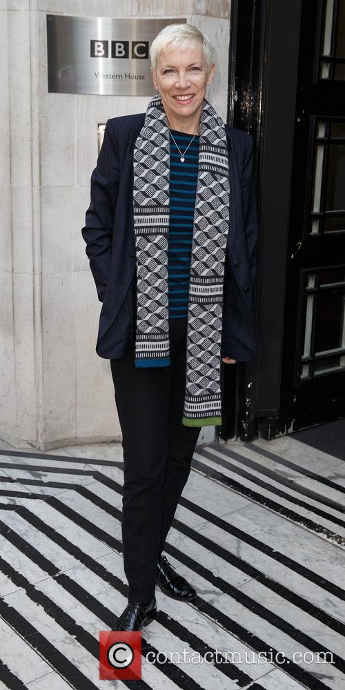 Annie Lennox arriving at BBC Radio 2