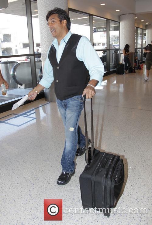 Erik Estrada at Los Angeles International Airport