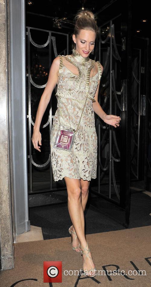 Poppy Delevingne leaves Claridge's hotel